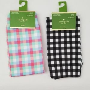NWT Kate Spade Crew Socks Multi-Colored Checked